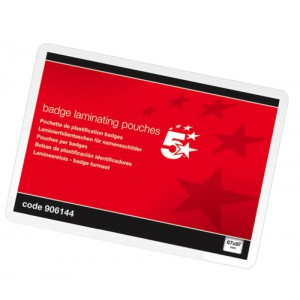 Business Laminating Pouches 250 Micron for Badge size [67x97mm] Gloss [Pack 100]