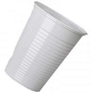 MyCafe Plastic Cups 7oz White Pk2000