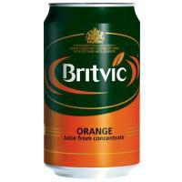 Britvic Orange Juice Pure Can 330ml Ref 202965 [Pack 24]