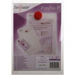Snopake Polyfile Wallet A7 Clear Pk5