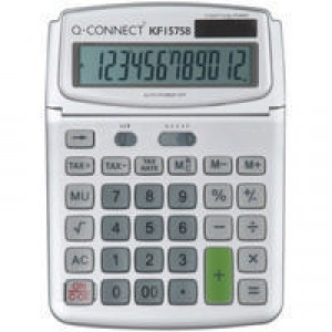 Q-Connect Grey Large 12 Digit Calculator