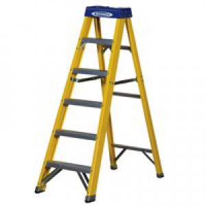 Abru F/G Yellow Swingback 6 Step Ladder