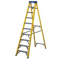 Abru Yellow Swingback 10 Tread Ladder