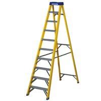 Abru Yellow Swingback 10 Tread Ladder