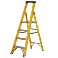 Abru Fibrglass 4 Tread Yellow Stepladder
