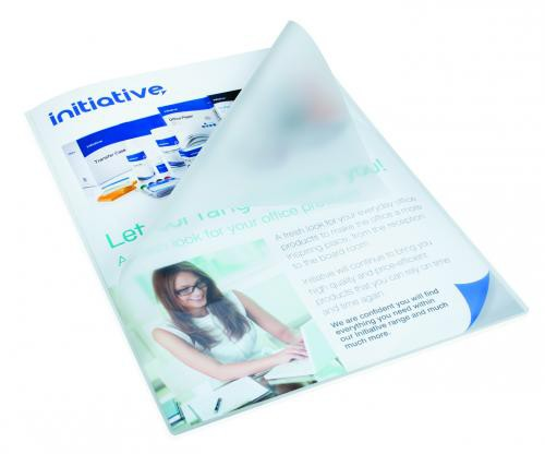 Initiative Lightweight Economy Pouch A4 80 Micron Pack 100