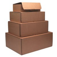 Brown 245x150x33mm Mailing Box Pk20