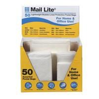 Mail Lite Assorted Wht Bubble Bags Pk50