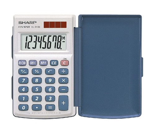 Sharp EL243S HandHeld Calculator