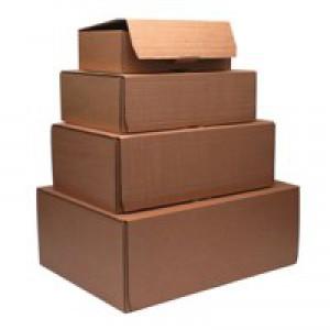 Mailing Box 395x255x140mm Brown Pk20