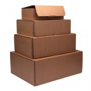 Mailing Box 395x255x140mm Brown Pk20