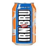 Irn Bru Soft Drink Can 330ml [Pack 24]