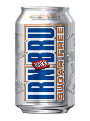 Irn Bru Sugar Free Soft Drink Can 330ml [Pack 24]