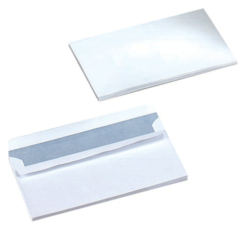 Business Envelopes Wallet Self Seal 90gsm White DL [Pack 500]