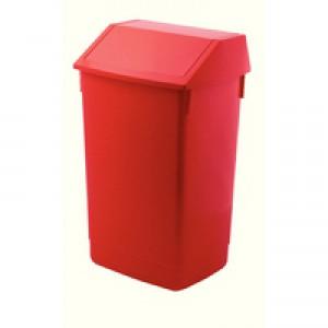 Addis Red Base 60Ltr Flip Top Bin