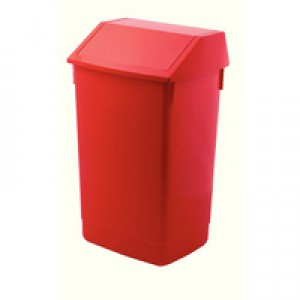 Addis Red Base 60Ltr Flip Top Bin