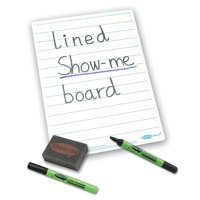 Show-me A4 Lined Whiteboards C/LIB Pk35