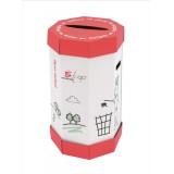 Image for Business Remarkable Loop Paper Recycling Office Waste Bin 60 Litres [Pack 5]