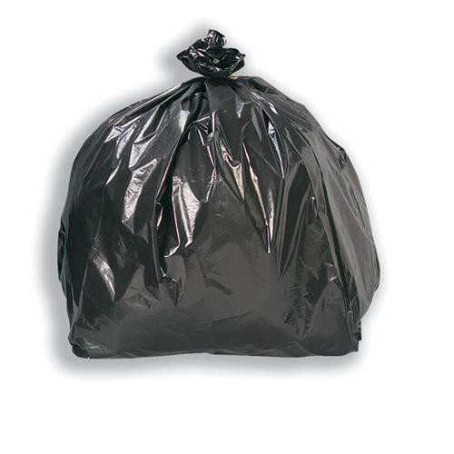 5 Star Facilities Bin Liners Medium Duty 85 Litre Capacity W415xD240xH960mm 18 Micron Black [Pack 200]
