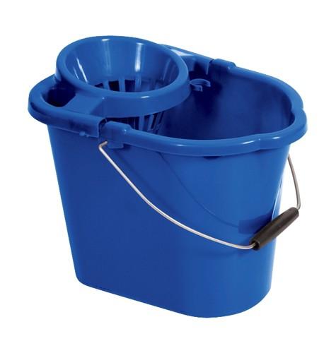 Oval Mop Bucket 12 Litre Blue