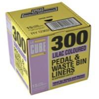 Lecube 300 Lilac pedal bin lnrs disp box
