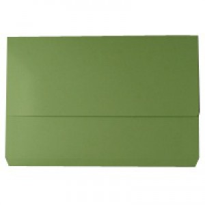 White Box Green Document Wallet Pk50