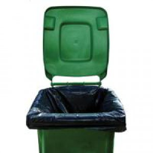 Image for 2Work Black Wheelie Bin Liners Pk100
