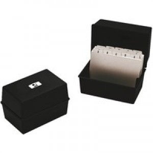 Image for Q-Connect Card Index Box 5x3 Black (0)