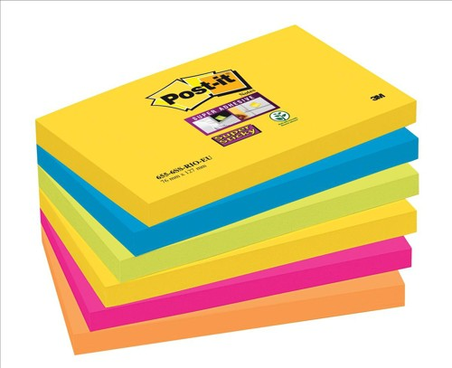 Post-it SS Notes Rio 76x127 Pk6