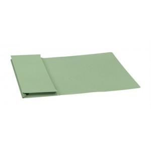 5 Star Elite Document Wallet Full Flap 315gsm Capacity 35mm Foolscap Green [Pack 50]