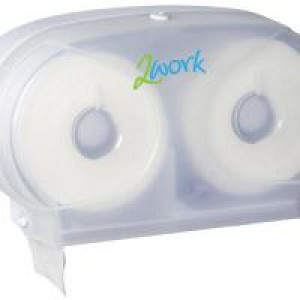 Image for 2Work Twin Toilet Roll Dispenser (1)
