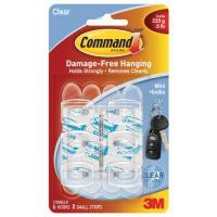 3M Command Mini Clear Hooks/Clear Strips