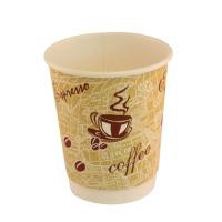 4Aces Dble/Wall 8oz Red Bean Paper Cup