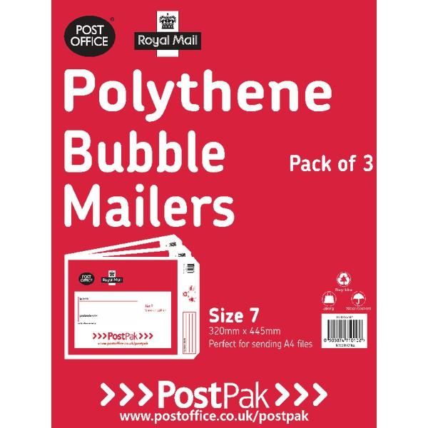 Polythene Size 7 Bubble Mailer Pk13