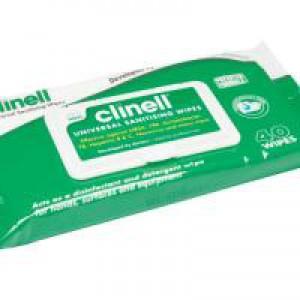 Clinell Univ Sanitising Wipes 40 Pk24