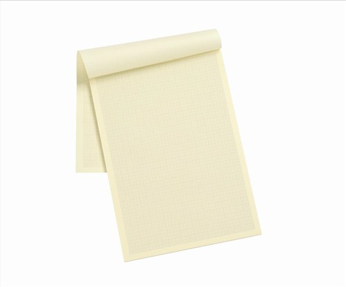 Silvine Designer Graph Pad 85gsm 1mm 5mm 10mm Grid 50 Sheets A4 Cream Wove Ref A4GPIVY