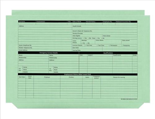 Personnel Wallet Green Pk50 PWG01
