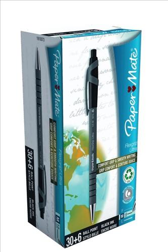 Papermate Flexgrip RT BP M Blk ValuePack
