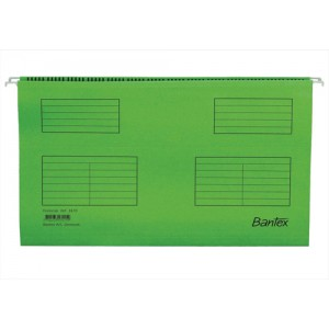 Bantex Flex Suspension File Kraft V-Base 15mm Square 30mm Foolscap Green Ref 100331441