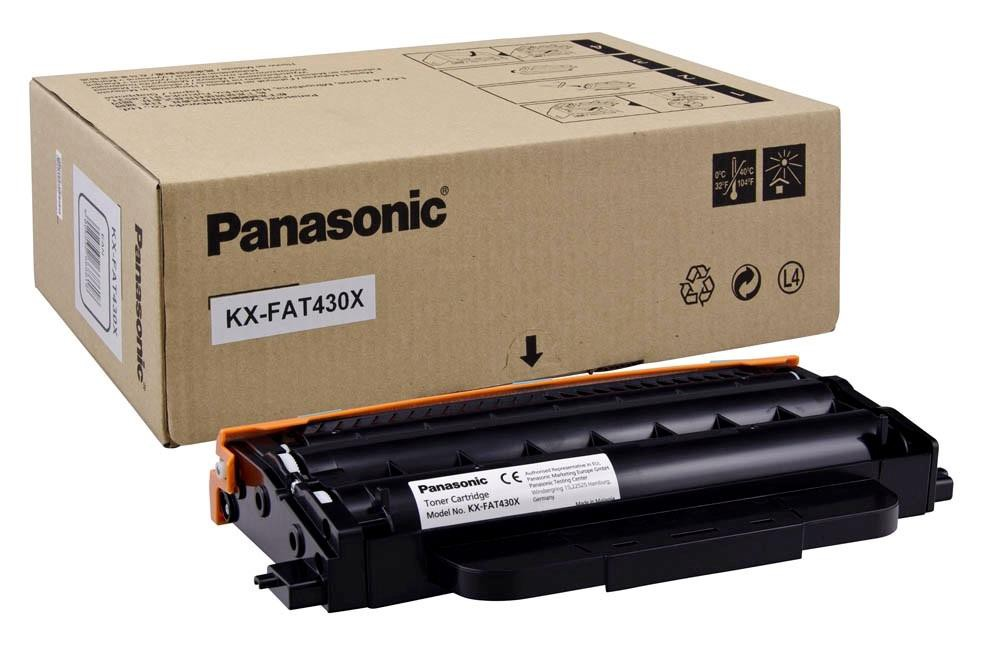 Panasonic Laser Toner Cartridge Page Life 3000pp Black Ref KX-FAT430X