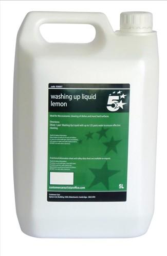 5 Star Facilities Lemon Washing-up Liquid 5 Litres