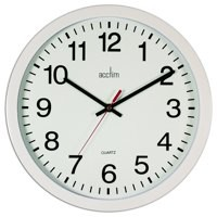 Acctim Controller 368mm Black Wall Clock