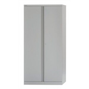 Bisley Cupboard Steel High 2-door 3-Shelf W914xD470xH1970-1985mm Grey Ref 574506