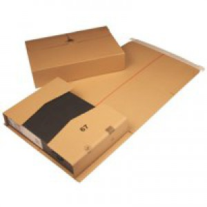 Brown 145x126x55mm Mailing Box Pk20