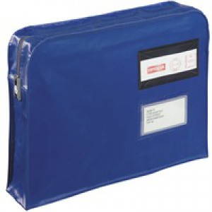 GoSecure Gusset Mailing Pouch Blue VFT3