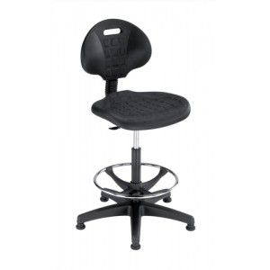 Trexus Lab High Chair Gas Lift Back H330mm Seat W470xD435xH560-810mm Black