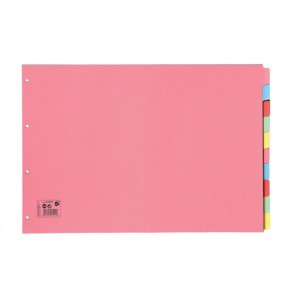 5 Star A3 Oblng 10-Part Subject Dividers
