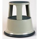Image for Business Step Stool Mobile Spring-loaded Castors Max 150kg Top D290xH430xBase D435mm 5kg Grey