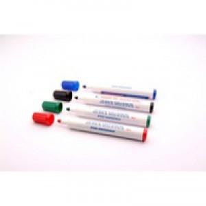 Assorted Bullet Tip Whitebrd Marker Pk4