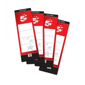 5 Star Lever Arch File Spine Labels Pk10